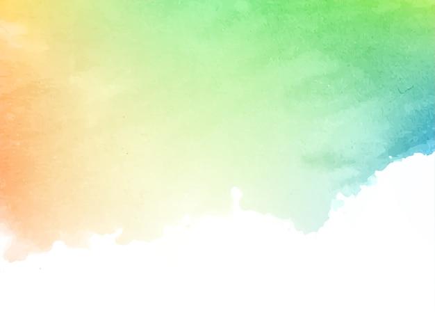 Miękkie Kolorowe Akwarele Tekstury Tła Darmowych Wektorów