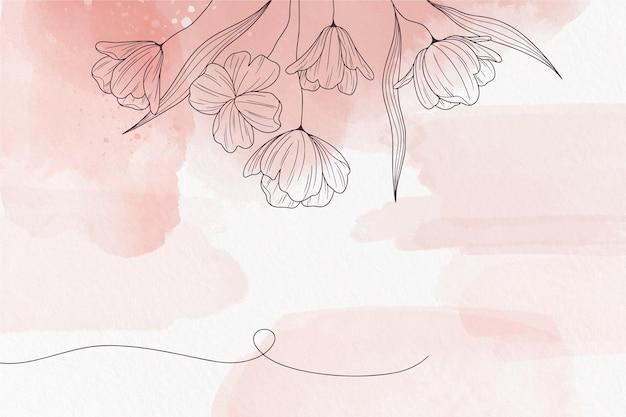 Miękkie Pastelowe Tło Z Kwiatami Darmowych Wektorów