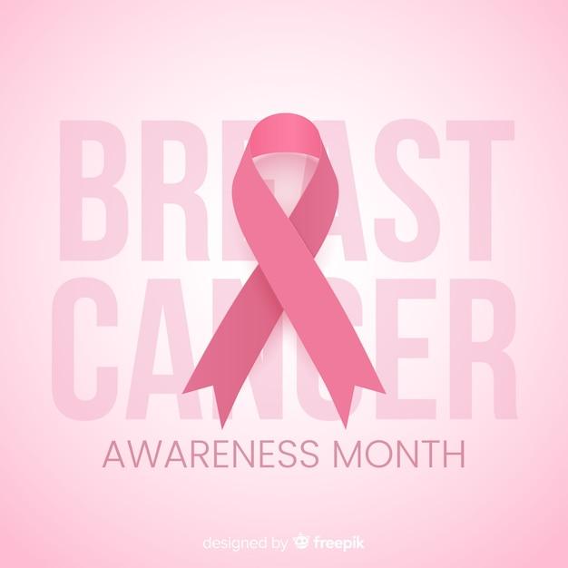 Miesiąc świadomości na temat płaskiej konstrukcji raka piersi Darmowych Wektorów