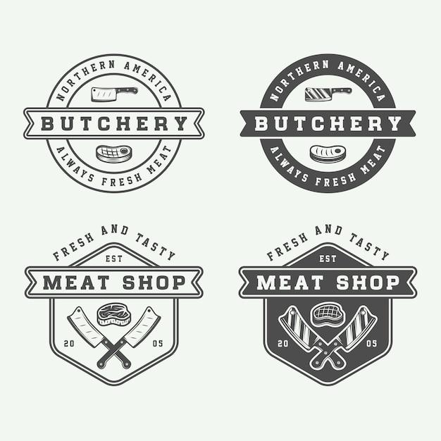 Mięso rzeźne, stek Premium Wektorów