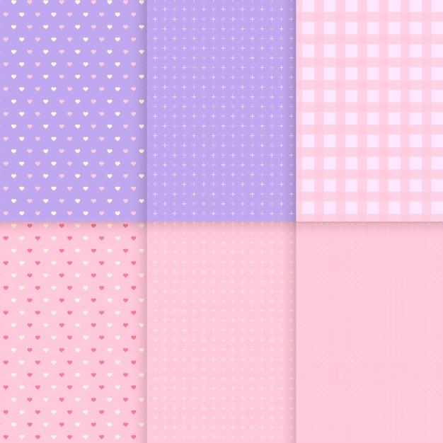 Mieszane wzór pastelowe tło wektorów Darmowych Wektorów