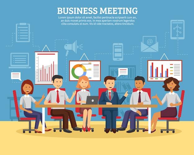 Mieszkanie spotkań biznesowych Darmowych Wektorów