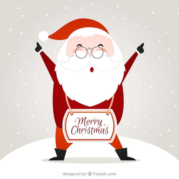 Mikołaj Merry Christmas karty Darmowych Wektorów