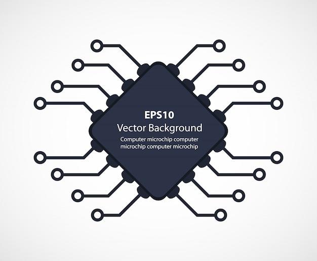 Mikroukład tła elektroniki Premium Wektorów