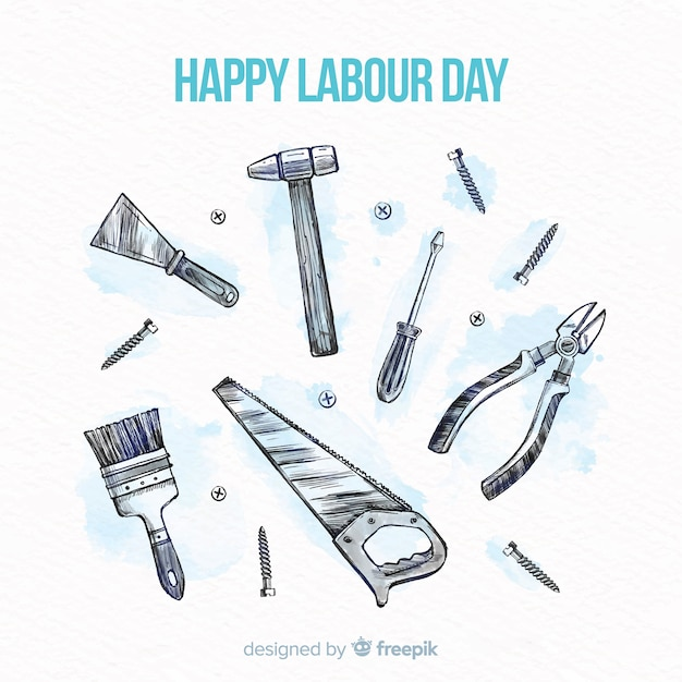 Miłego święta Pracy Darmowych Wektorów