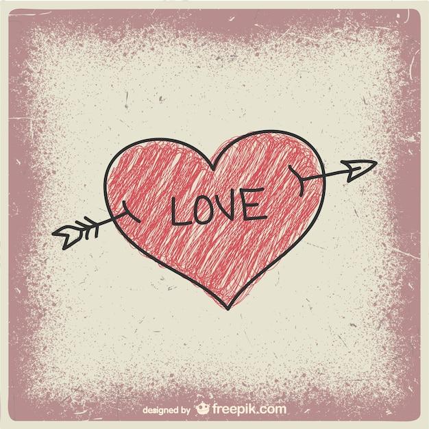Miłość Bazgroły Darmowych Wektorów