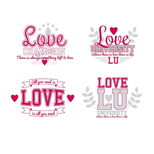 Miłość Ustaw Premium Wektorów