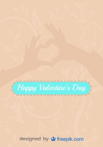 Miłość Zarejestruj Się Za Ręce W Kształcie Serca Wektor Darmowych Wektorów