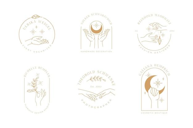 Minimalistyczna Kolekcja Logo Dłoni Darmowych Wektorów