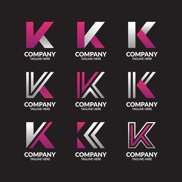Minimalistyczna Kolekcja Logo Litery K. Premium Wektorów