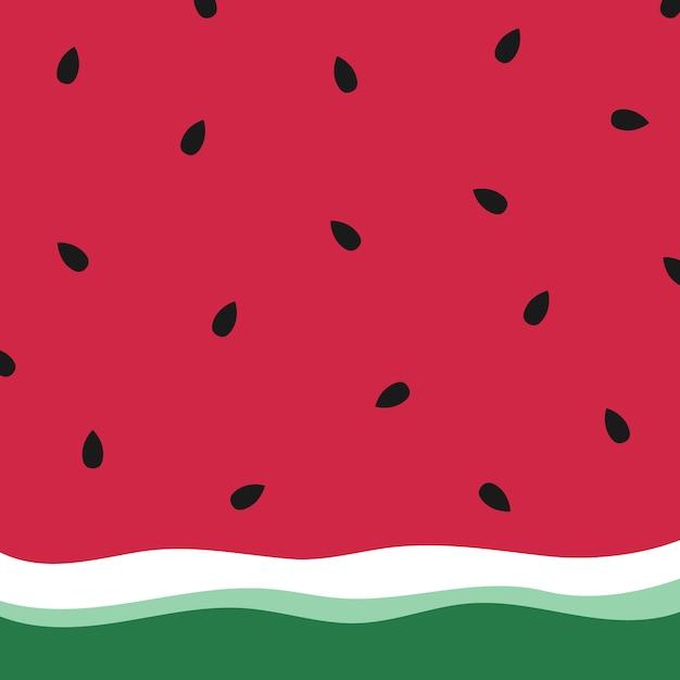 Minimalistyczna lato arbuz tapeta. Premium Wektorów