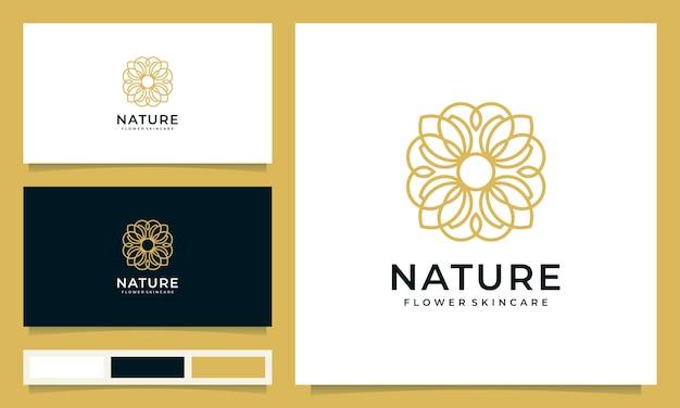 Minimalistyczne Logo Kwiatowe Inspirowane Stylem Graficznym Premium Wektorów