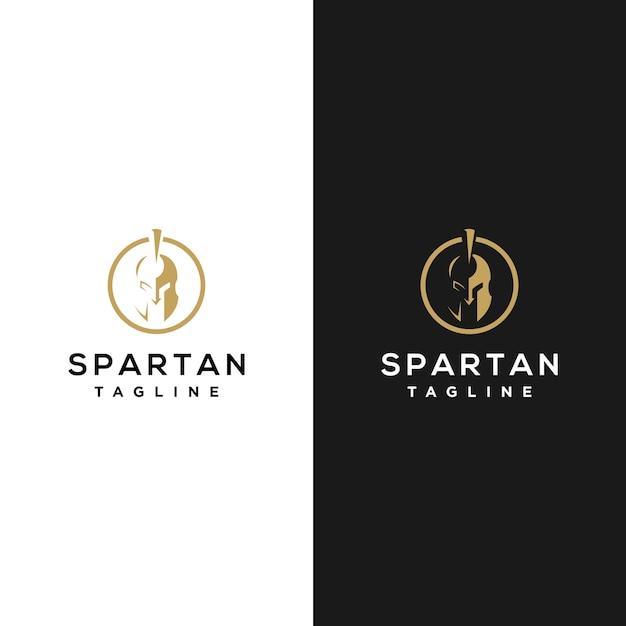 Minimalistyczne spartańskie logo Premium Wektorów