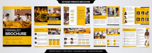 Minimalistyczny Broszura Szablon Wektor Premium Premium Wektorów