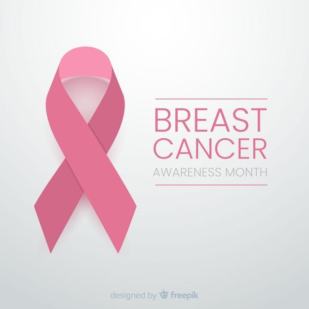 Minimalistyczny design dla świadomości raka z wstążką Darmowych Wektorów