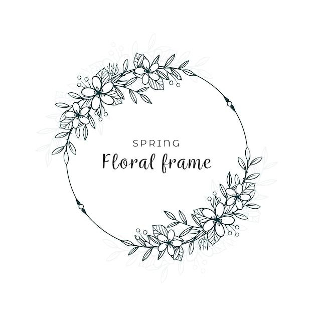 Minimalistyczny Design Wiosennych Liści I Kwiatów Darmowych Wektorów