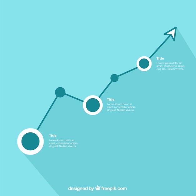 Minimalistyczny infografika szablon Darmowych Wektorów