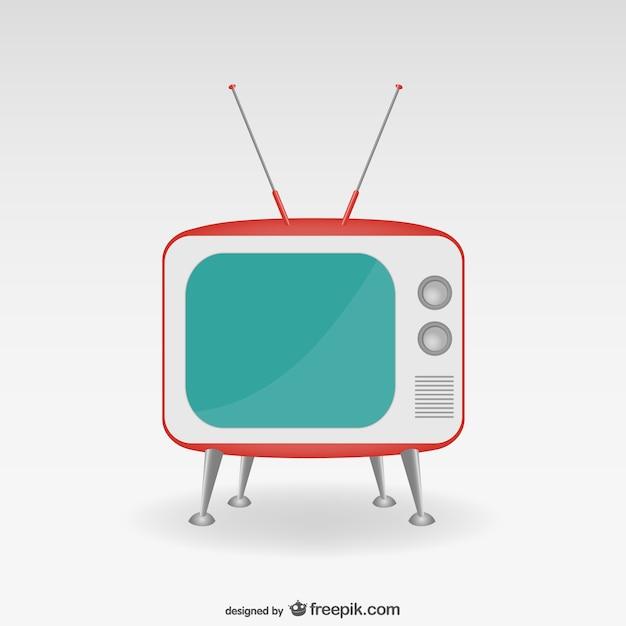 Minimalistyczny retro telewizor Darmowych Wektorów