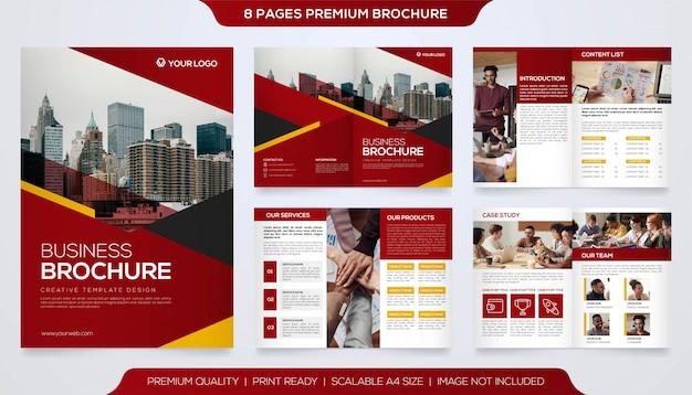 Minimalistyczny Szablon Broszury Premium Wektorów