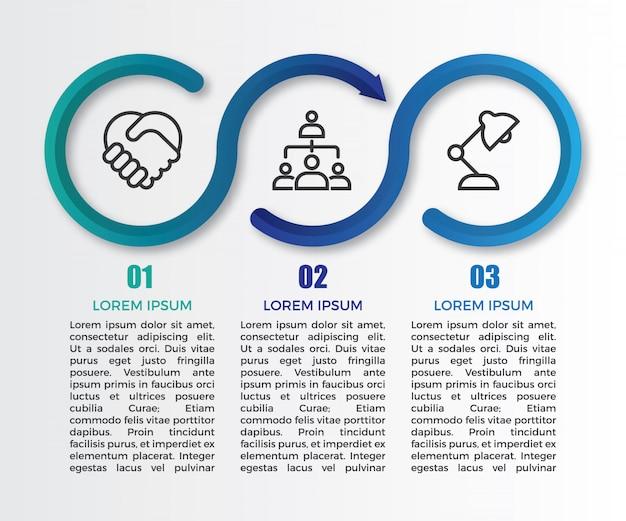Minimalistyczny Szablon Infographic Gradientu Premium Wektorów