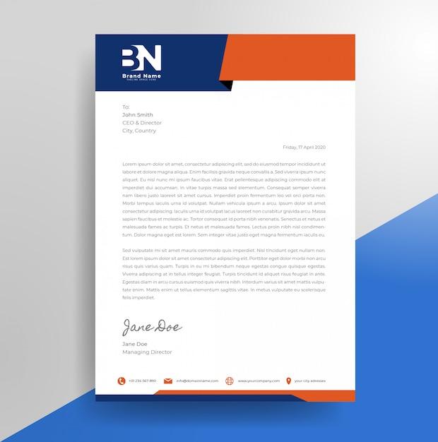 Minimalistyczny szablon papieru firmowego Premium Wektorów