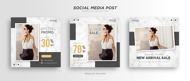 Minimalistyczny Szablon Postów W Mediach Społecznościowych Premium Wektorów