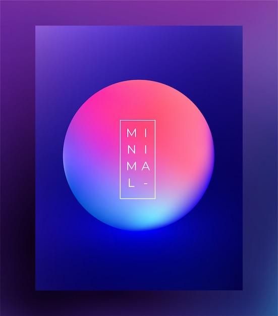 Minimalistyczny szablon ulotki plakat na festiwal muzyki elektronicznej. . Premium Wektorów
