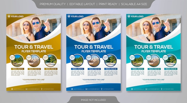 Minimalistyczny Szablon Ulotki Podróży Premium Wektorów
