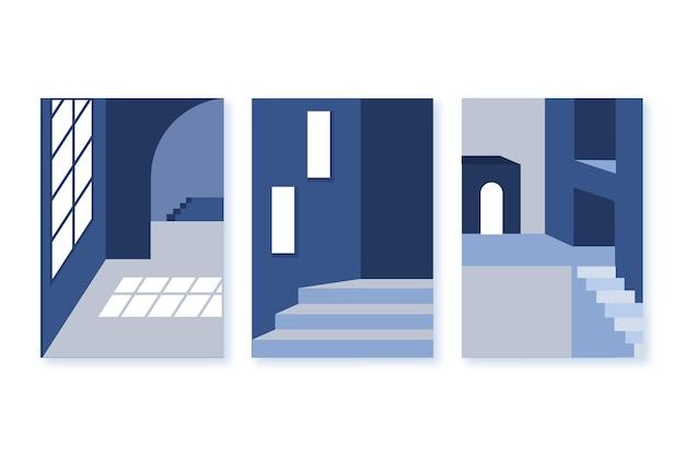 Minimalna Architektura Obejmuje Kolekcję Darmowych Wektorów