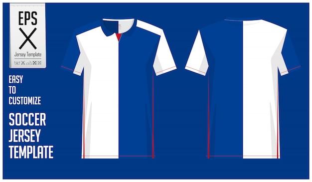 Minimalna Koszulka Piłkarska Lub Szablon Piłkarski Premium Wektorów