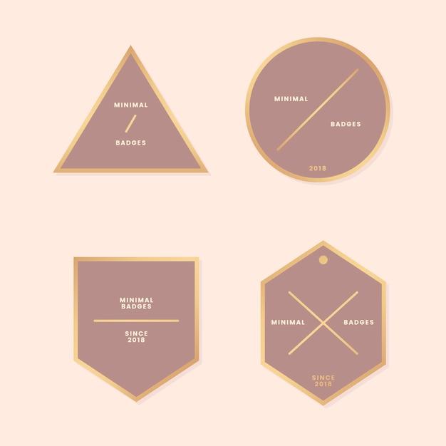 Minimalna złota kolekcja odznak Darmowych Wektorów