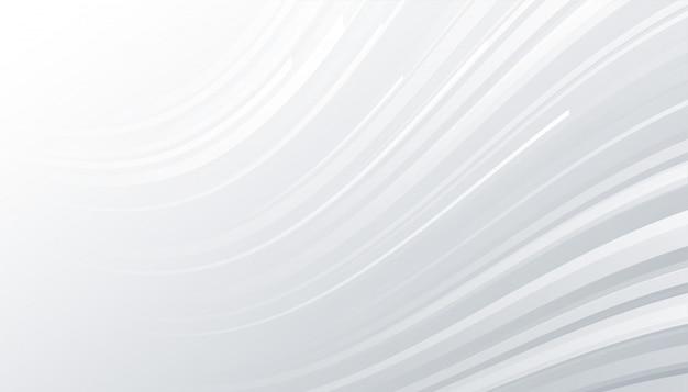 Minimalne Białe I Szare Tło Z Falistymi Liniami Darmowych Wektorów
