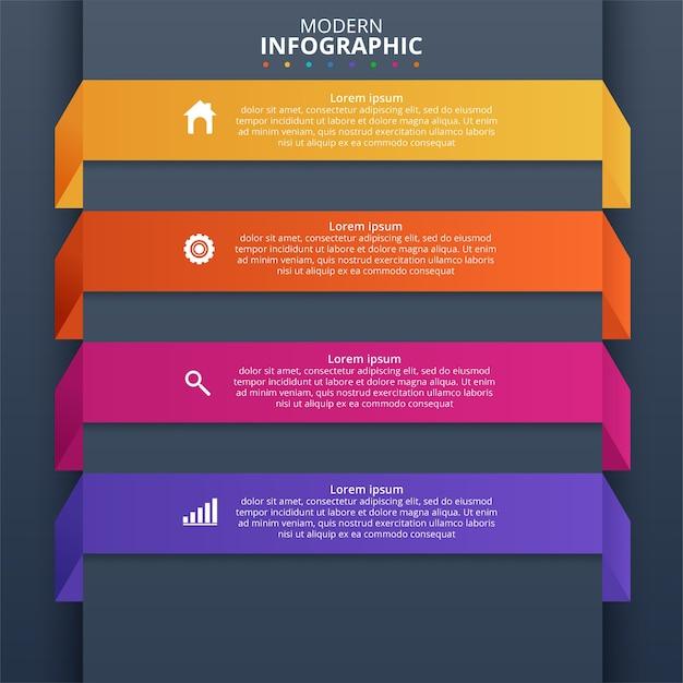 Minimalny Szablon Biznes Infografiki. Ilustracji Wektorowych Darmowych Wektorów