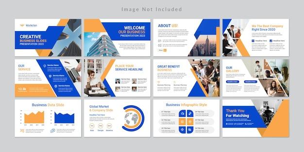 Minimalny Szablon Prezentacji Slajdów Biznesowych. Premium Wektorów