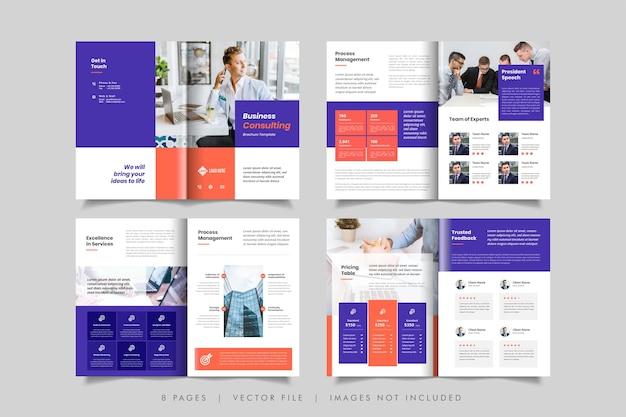 Minimalny Szablon Projektu Broszury Biznesowej Lub Broszury Premium Wektorów