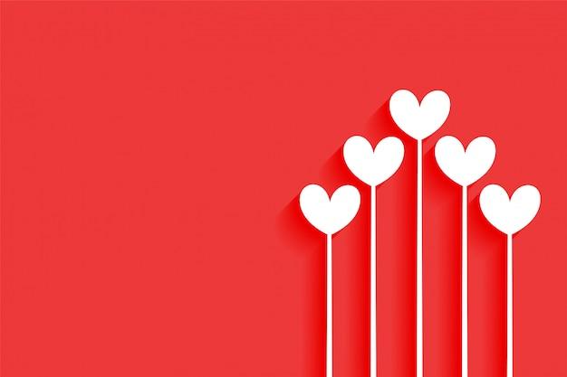 Minimalny Szczęśliwy Walentynek Serc Tła Projekt Darmowych Wektorów