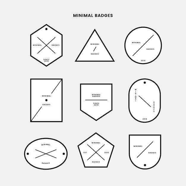Minimalny zestaw odznak Darmowych Wektorów