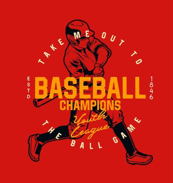 Mistrz Baseballu Ligi Młodzieżowej Premium Wektorów
