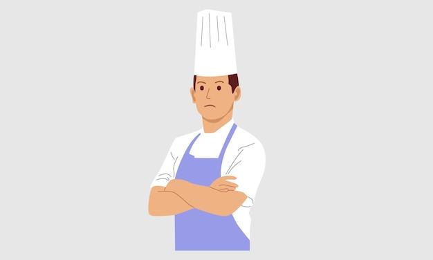 Młodzi Profesjonalni Kucharze Premium Wektorów