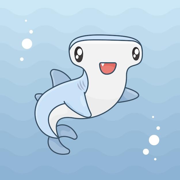 Młotek Rekina W Oceanie Darmowych Wektorów
