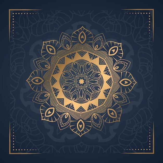 Mluxury ornament mandala tło Premium Wektorów