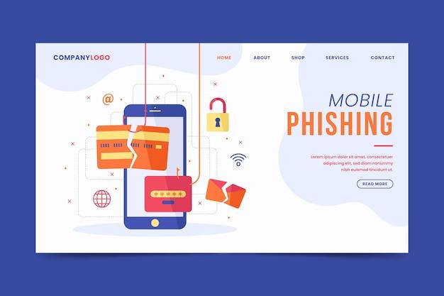 Mobilna Strona Docelowa Phishingu Darmowych Wektorów