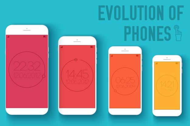 Mobilne Urządzenia Elektroniczne Na Tle Koncepcja Płaski Premium Wektorów