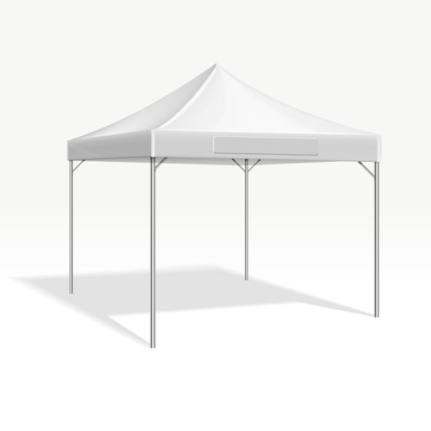 Mobilny namiot imprezowy na targi. Premium Wektorów