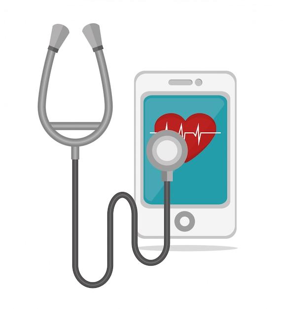 Mobilny projekt zdrowotny Premium Wektorów