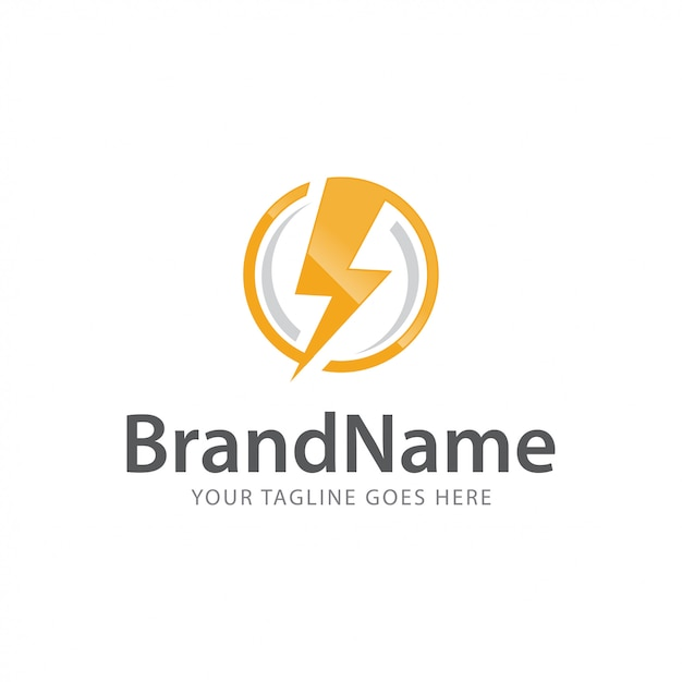 Moc Bolt Grzmot Szybko Ekspresowe Elektryczne Logo Wektor Szablon Premium Wektorów