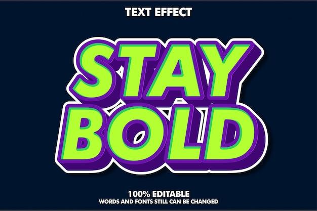 Mocny, Odważny Efekt Tekstowy W Stylu Retro Pop-art Dla Starego Stylu Banner Premium Wektorów
