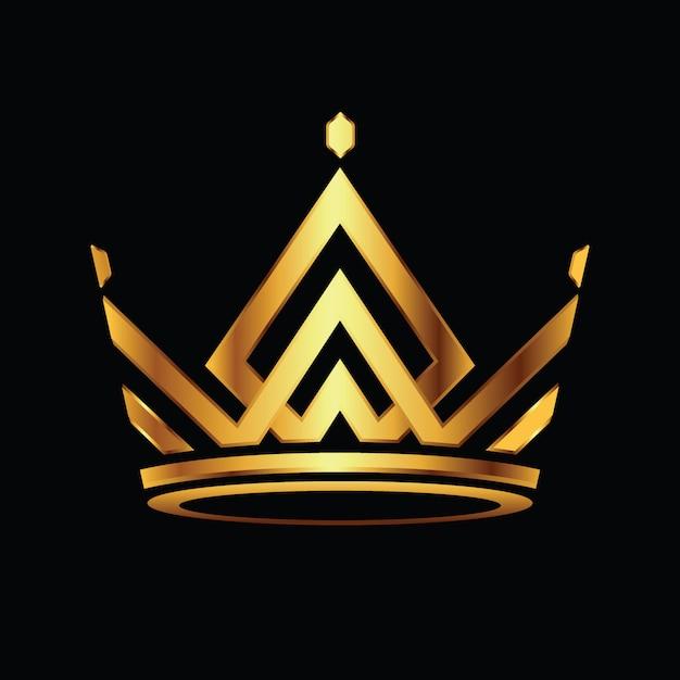 Modern crown logo royal king queen streszczenie wektor logo Premium Wektorów