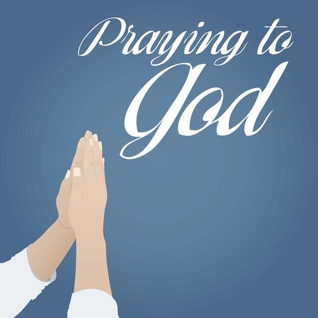 Modlitwa Do Boga Premium Wektorów