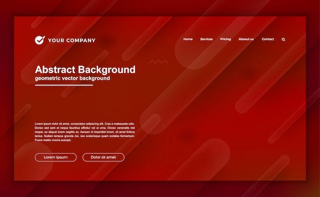 Modne czerwone tło dla projektu strony docelowej. Premium Wektorów